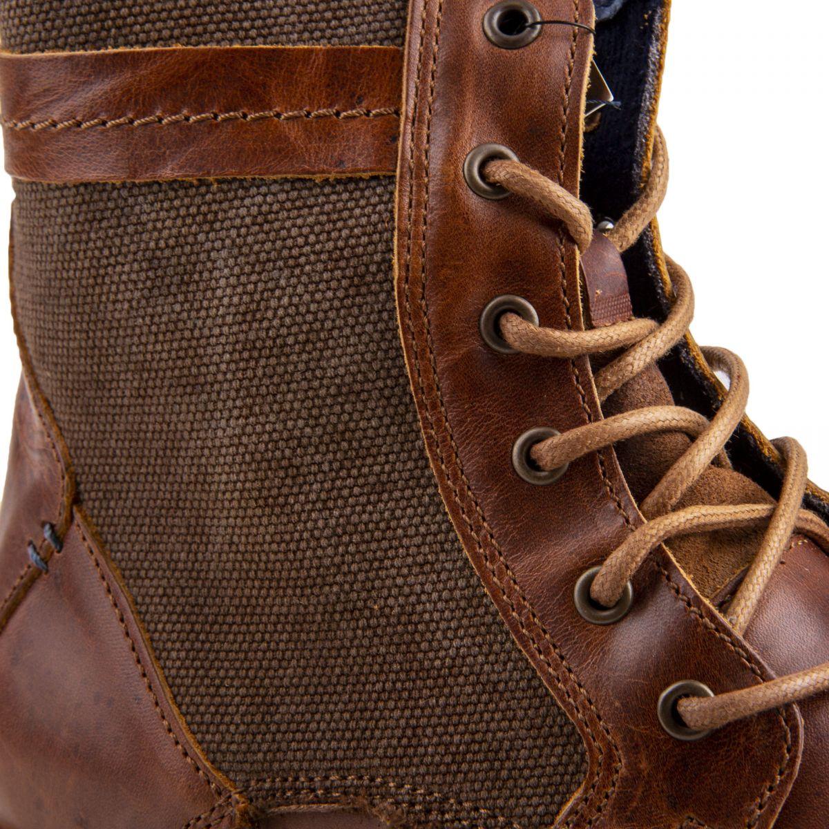 zip cuir à prix latéral Boots camel Homme ORLANDO dégriffé 7Yf6gyvb