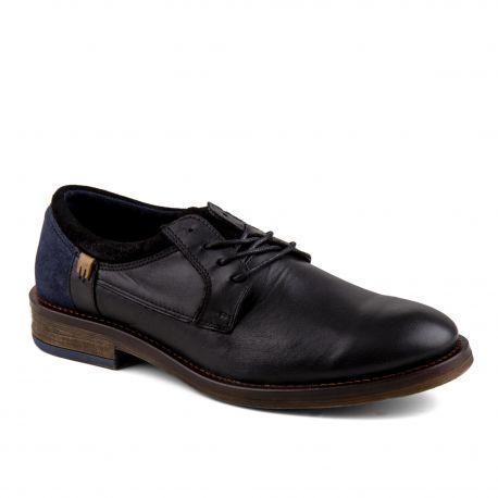 Chaussures de ville noires cuir Homme ORLANDO marque pas cher prix dégriffés destockage