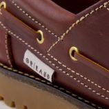 Chaussures bateau marron cuir Homme ORLANDO marque pas cher prix dégriffés destockage