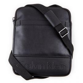 Sacoche bandoulière cuir noire moyen Homme CALVIN KLEIN marque pas cher prix dégriffés destockage