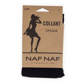 Collant noir opaque 240 Deniers Ludwine Femme NAF-NAF marque pas cher prix dégriffés destockage