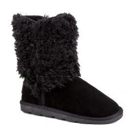 Boots montantes fourrées noires Chazel Femme LES TROPEZIENNES