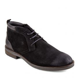 Chaussures derbies montantes noires cuir retourné Glam Homme PIERRE CARDIN marque pas cher prix dégriffés destockage