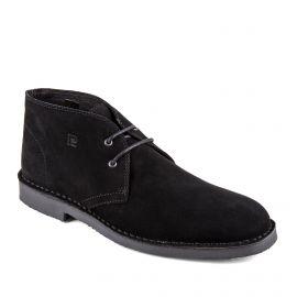 Chaussures derbies montantes noires cuir retourné Galo Homme PIERRE CARDIN marque pas cher prix dégriffés destockage