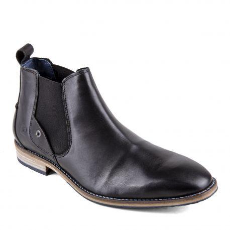Chaussures Cardin Noires Cuir Bottines Homme Pierre MVSUpzq