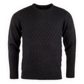 PULL COL ROND T102 NOIR
