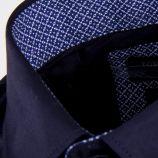 Chemise bleu marine slim fit manches longues Homme TORRENTE marque pas cher prix dégriffés destockage