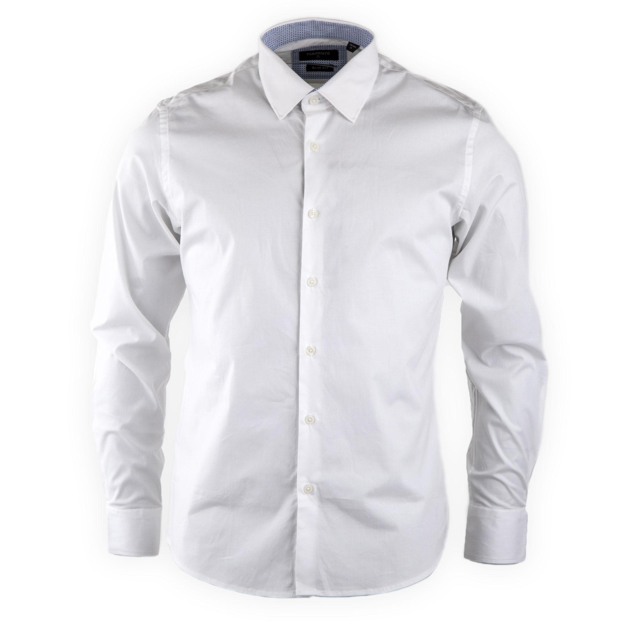 01bed212a4712 La chemise blanche est le grand classique indémodable du dressing masculin.  Craquez pour ce modèle à la coupe slim fit. Chemise homme 25299 29.99 ...