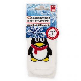 Chaussettes Bouclette pingouin semelle antidérapante Enfant AZERTEX