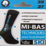 Chaussettes ski coton renforts & confort snowboard Enfant AZERTEX marque pas cher prix dégriffés destockage