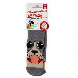 Chaussettes Bouclette coton imprimé chien Enfant AZERTEX