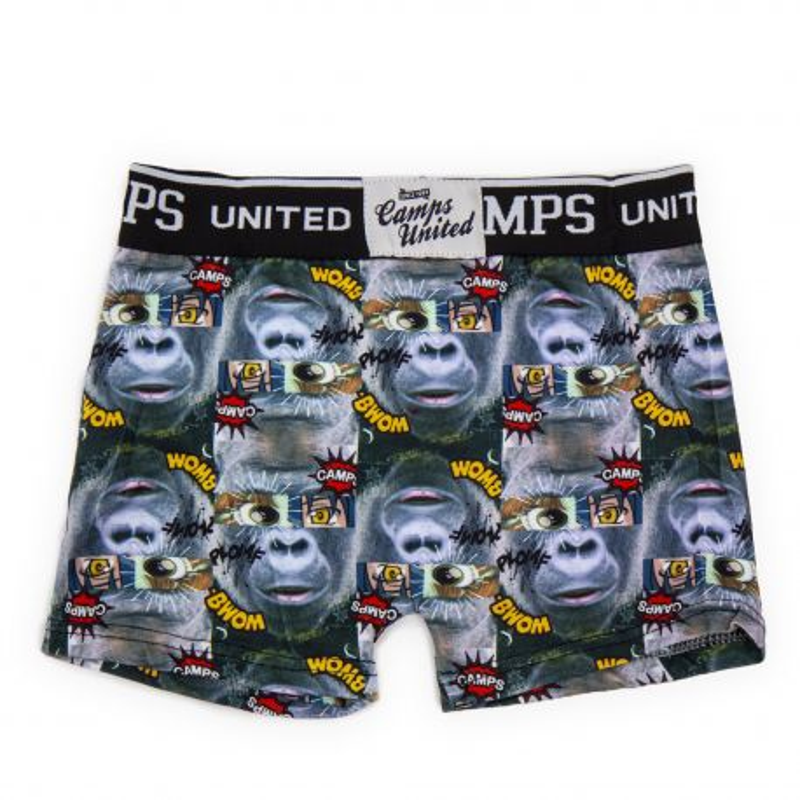 Boxer imprimé gorilles Garçon CAMPS UNITED marque pas cher prix dégriffés destockage