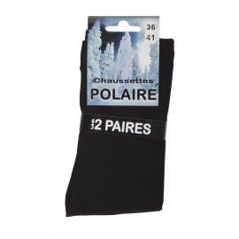Lot de 2 paires de chausettes thermo polaire Femme AZERTEX