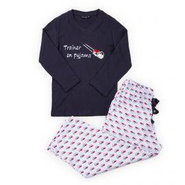 Pyjama bleu et blanc coton enfant ARTHUR marque pas cher prix dégriffés destockage