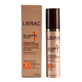 Crème visage solaire haute protection indice 30 Sunific 50ml LIERAC marque pas cher prix dégriffés destockage