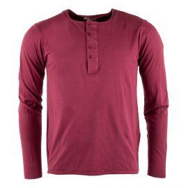 Tee shirt en coton col tunisien homme AMERICAN VINTAGE