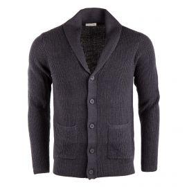 Gilet en laine maille côtelée homme AMERICAN VINTAGE marque pas cher prix dégriffés destockage