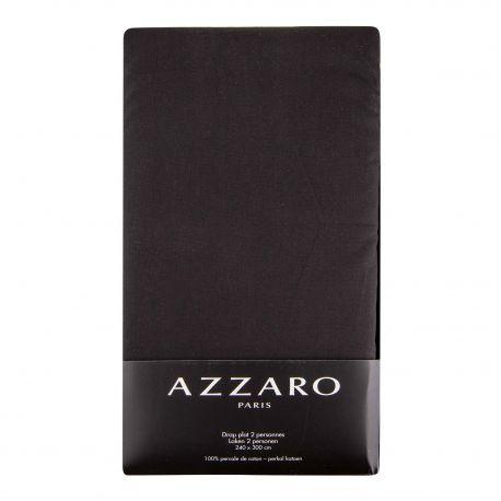 Drap plat 100% percale de coton 240x300cm AZZARO marque pas cher prix dégriffés destockage