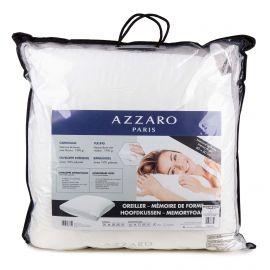 Oreiller à mémoire de forme 60x60cm déhoussable AZZARO marque pas cher prix dégriffés destockage
