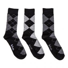 Lot de 3 paires de chaussettes losanges homme JOSH LEE COOPER marque pas cher prix dégriffés destockage