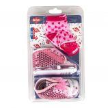 Ensemble chaussures à paillettes + chaussettes rose bébé LEE COOPER