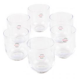 Lot de 6 verres transparent GUZZINI marque pas cher prix dégriffés destockage