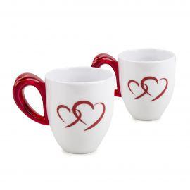 Set de 2 mugs coeur rouge GUZZINI