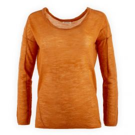 Pull fin orange femme AMERICAN VINTAGE