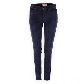 Pantalon bleu marine en velours femme Elyria AMERICAN VINTAGE