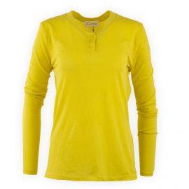 Tee shirt basique en coton col boutonné Femme American marque pas cher prix dégriffés destockage