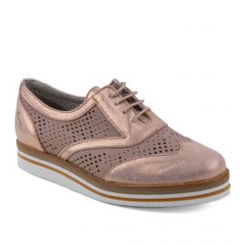 Derbies roses brillantes en cuir femme Romy DORKING