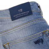 Bermuda bleu délavé en jean enfant Mercer SCOTCH & SODA marque pas cher prix dégriffés destockage