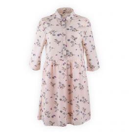 Robe chemise fluide rose poudré femme SEASON