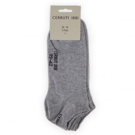 Lot de 3 paires de chaussettes unies Mixte CERRUTI marque pas cher prix dégriffés destockage