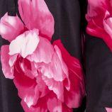 Blouse noire à fleurs col tunisien femme BEST MOUNTAIN marque pas cher prix dégriffés destockage