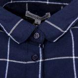 Chemise bleu marine à carreaux femme BEST MOUNTAIN marque pas cher prix dégriffés destockage