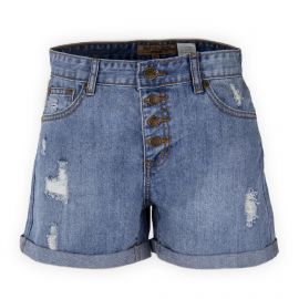 Short en jean destroy taille haute femme BEST MOUNTAIN