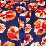 Haut bleu imprimé fleuri femme BEST MOUNTAIN marque pas cher prix dégriffés destockage