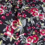Haut noir à fleurs épaules dénudées femme BEST MOUNTAIN marque pas cher prix dégriffés destockage