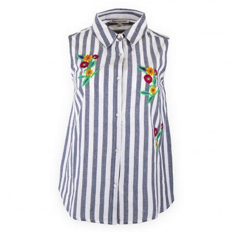 Chemise à rayures sans manches femme BEST MOUNTAIN marque pas cher prix dégriffés destockage