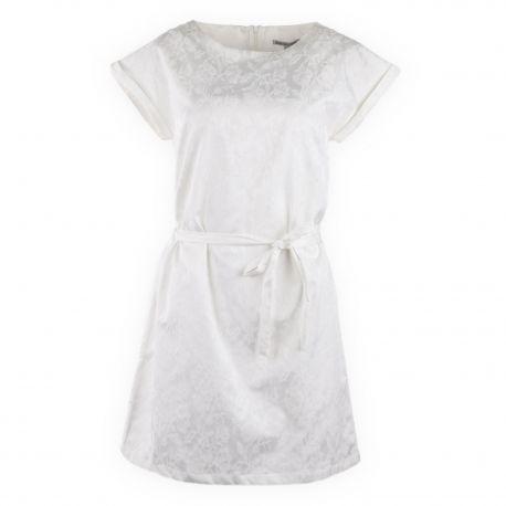 Robe blanche en jacquard femme BEST MOUNTAIN marque pas cher prix dégriffés destockage