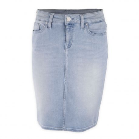 la meilleure attitude 9d921 50fa9 Jupe en jean bleu clair femme TOMMY HILFIGER