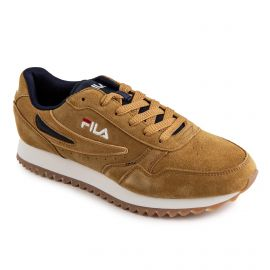 Baskets camel suede homme Orbit Jogger Ripple S Low FILA