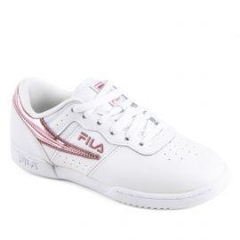 Baskets blanches et roses femme Original Fitness F WMN FILA