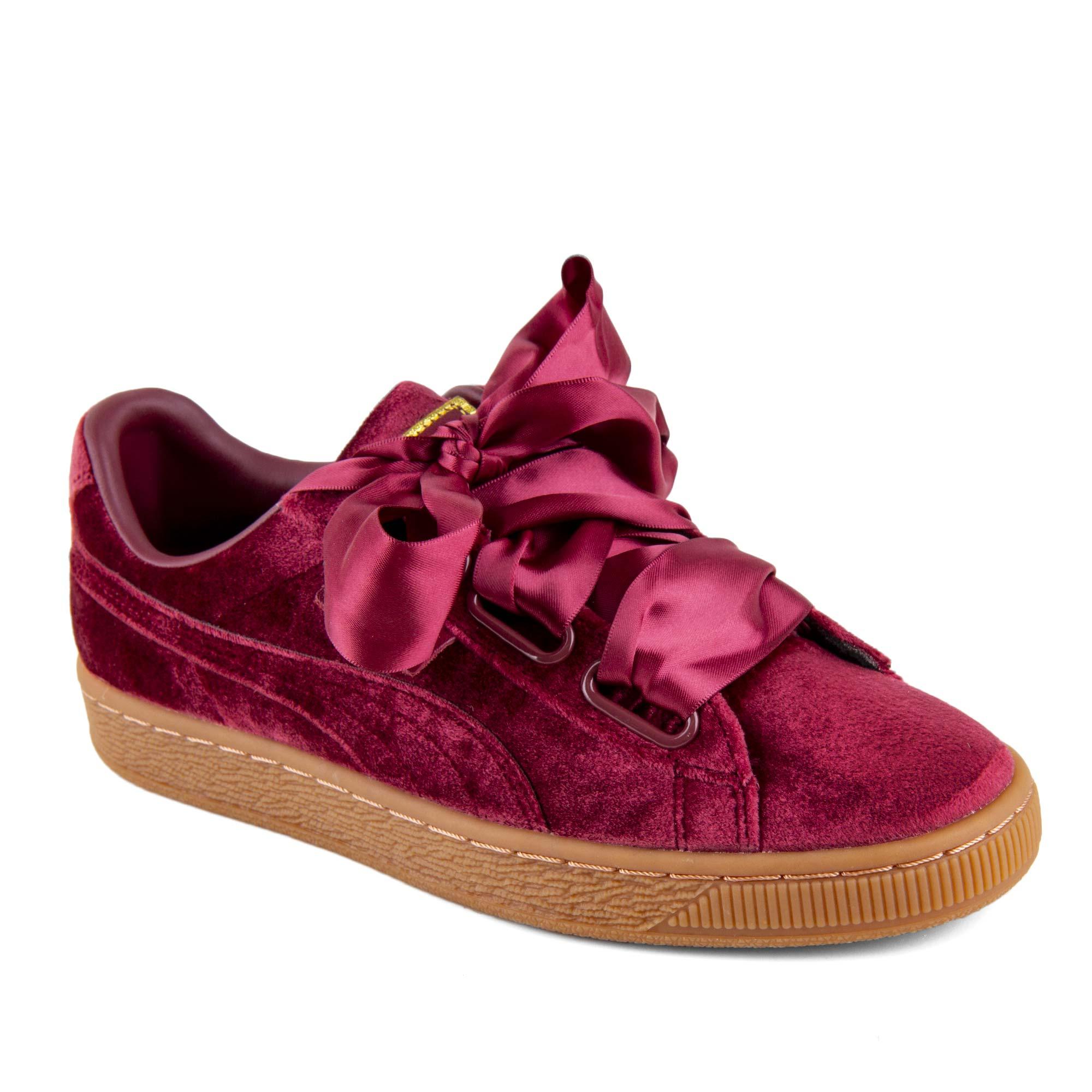nouveaux styles fd917 81072 Baskets bordeaux Heart Velvet femme PUMA