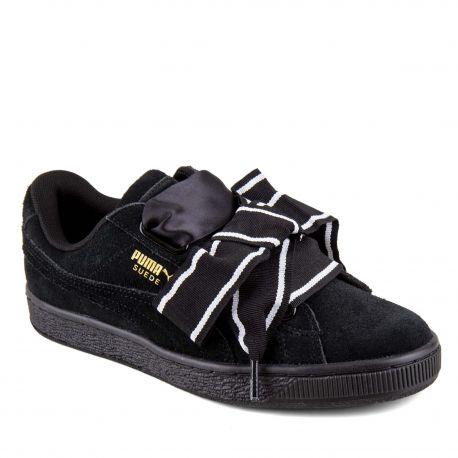 Basket cuir lacet satin black 36408401 PUMA