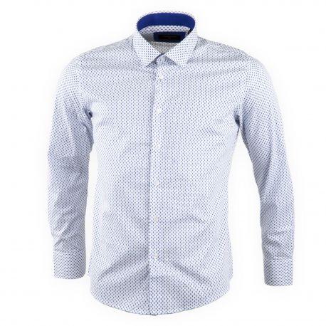 Chemise homme blanche manches longues TORRENTE marque pas cher prix dégriffés destockage
