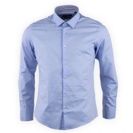 Chemise homme bleu manches longues TORRENTE marque pas cher prix dégriffés destockage