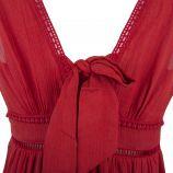Robe mi-longue ocre rouge Femme DDP marque pas cher prix dégriffés destockage