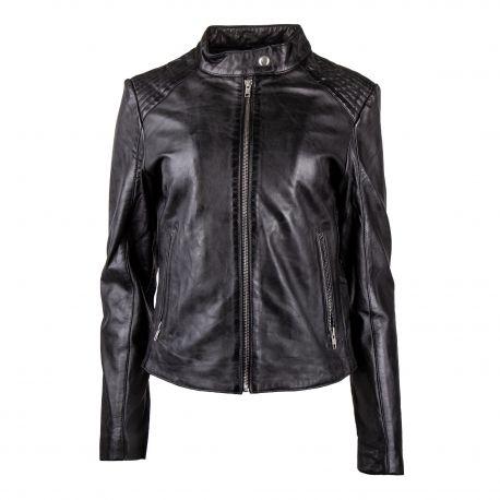 nouvelle veste en cuir femme